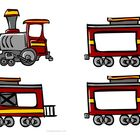 FREE Train Clip Art - Make number trains, ABC order trains, addition trains, shape trains, noun-verb sentence trains, beginning-middle-end sound trains.