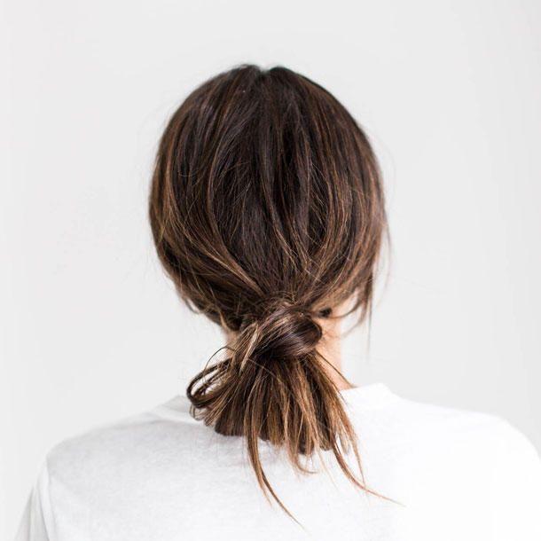 Einfache Frisuren: Messy Chignon