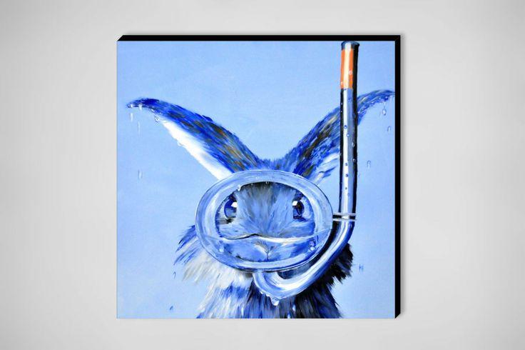 """Saatchi Online Artist: Eckhard Besuden; Oil, 2010, Painting """"Hannes Seehas blau"""""""