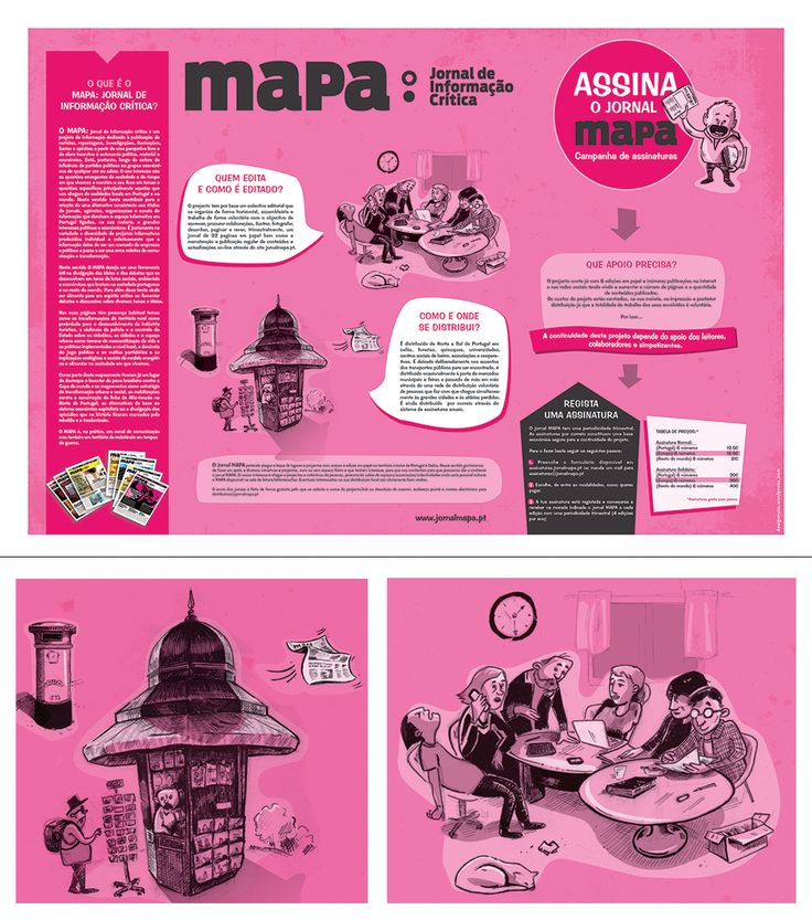 Poster for independent nespaper 'Mapa'.
