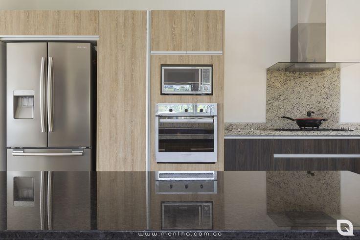Cocina / La Francia, Manizales. -Manija aluminio Perfil Gola. #CocinasExclusivas #CocinasFuncionales #CocinasPersonalizadas