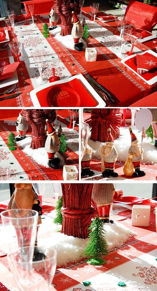 Table Noel Rouge et Blanche / Photo:B.Saussol