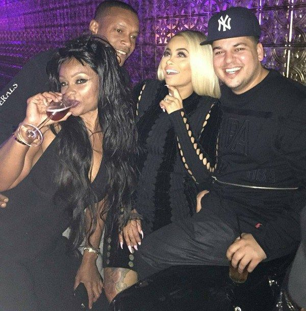 Rob Kardashian and Blac Chyna celebrate engagement with her mother