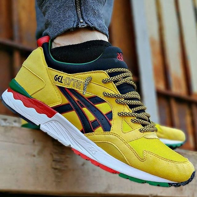 asics gel lyte v yellow rasta