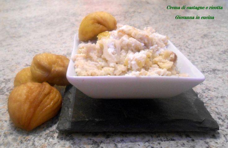 Crema di castagne e ricotta è l'ideale per accompagnare un secondo di carne