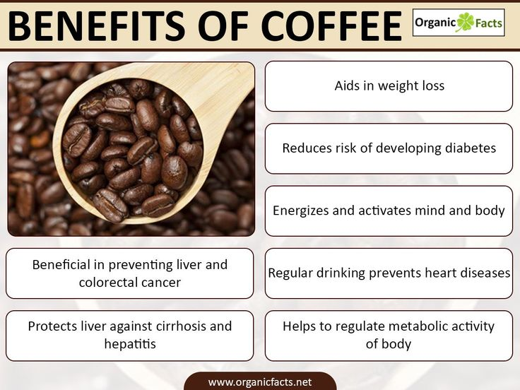 Some of the most impressive health benefits of coffee include its ability to improve cognitive health, protect the cardiovascular system, reduce the chances of developing diabetes, aid in weight loss efforts, boost energy levels, maximize fitness efforts, increase liver protection, optimize the metabolism, and protect against certain types of cancer.