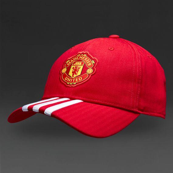 Casquette adidas Manchester United 15/16 3 bandes- Rouge/Blanc/Noir