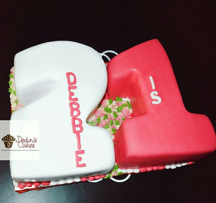 Number cake covered with fondant | Dedun's Cakes