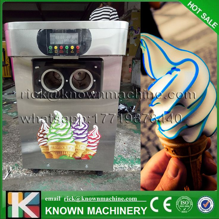 The CE certified  table top mini soft ice cream vending machine 3 Flavors Ice Cream Maker 1700W  18-22L/H on hot sale