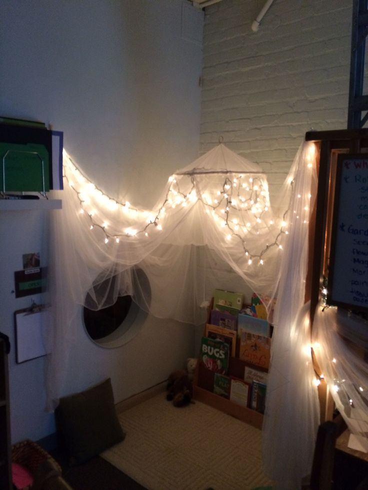 Library - Reggio Inspired Environment....or over dramatic play area?