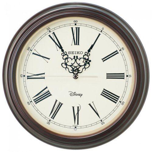 大人ディズニーなミッキーマウス&ミニーマウス木枠掛時計