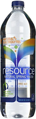 Resource Water Natural Spring Water - 33.8 oz ** Check out the image by visiting the link.
