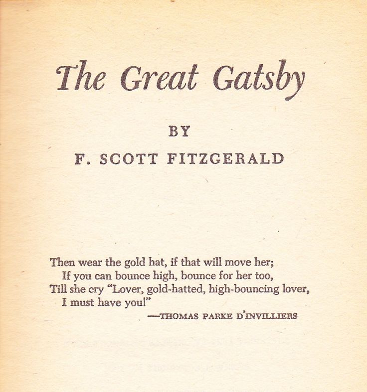 literary analysis of the novel the great gatsby by f scott fitzgerald The great gatsby is a novel by the american author  continue reading the analysis  one response to the great gatsby, by francis scott fitzgerald (i.