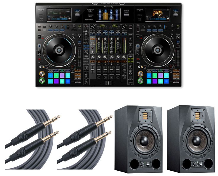 Pioneer DDJ-RZX DDJRZX DJ Controller with ADAM Speakers and Mogami Cables