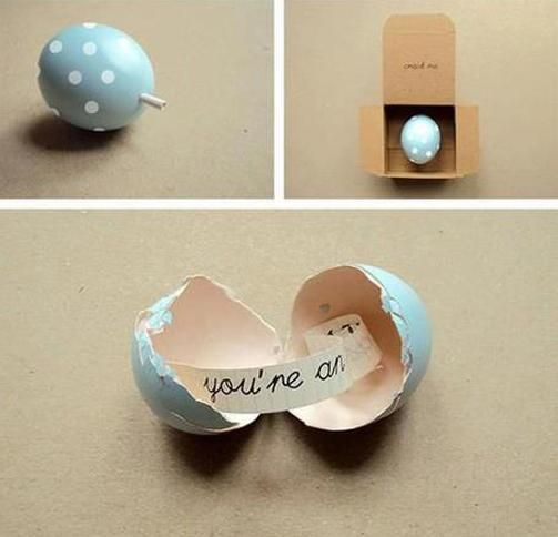 Oeuf DIY pour message cadeau original