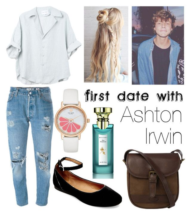 """first date with Ashton Irwin"" by beatrigitaa on Polyvore featuring Steve Madden, DUBARRY, Kate Spade, Levi's and Bulgari"