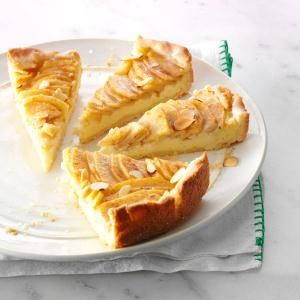Autumn Apple Torte Recipe -When it's apple season, we always find room for a slice of this heartwarming torte with a cream cheese layer and apples galore. Margaret Wilson, Sun City, California