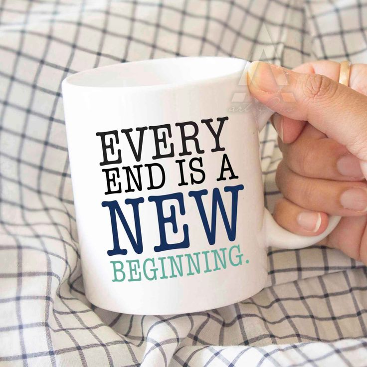 "Coworker gift, new beginnings, ""Every end is a new beginning"" coffee mug, going away gift for coworker, good bye gift, farewell gift MU160 by artRuss on Etsy"