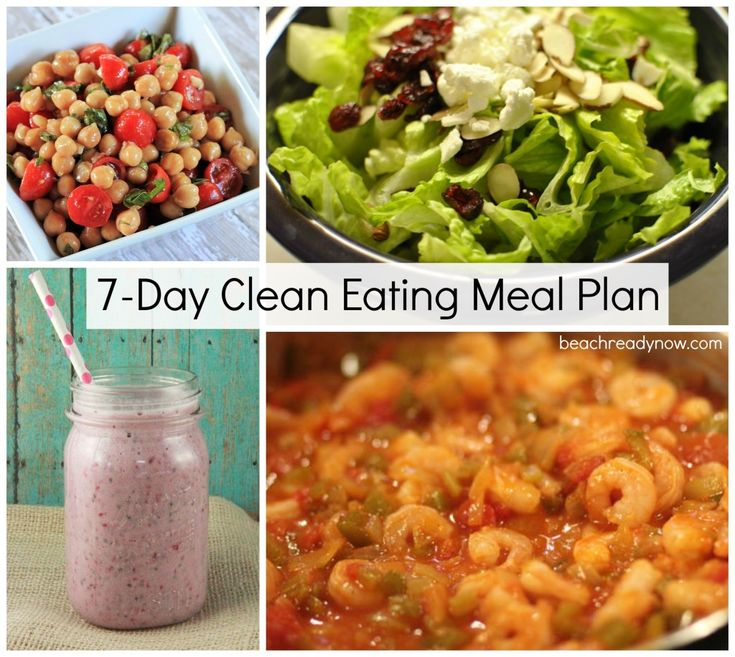 7-Day Clean Eating Meal Plan with snacks and yummy recipes