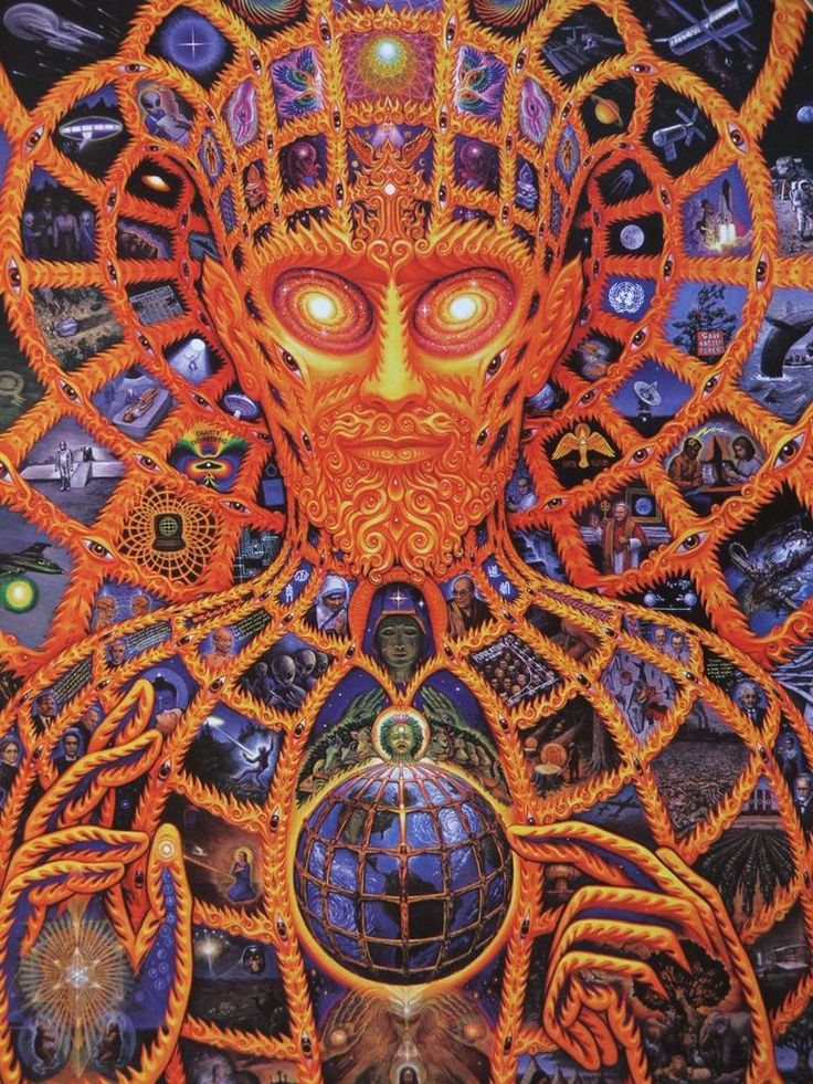 Cosmic Christ, Alex Grey. So much detail in this picture, it's mind blowing.