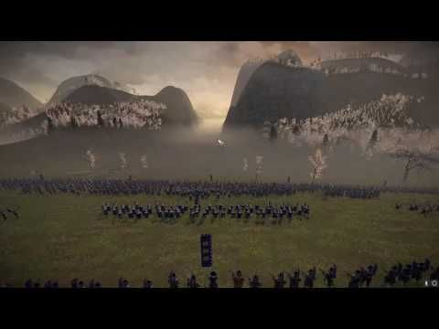Total war shogun 2. Death Valley defence against 12000 men. 1 vs 3 huge epic defence in the narrow death valley.