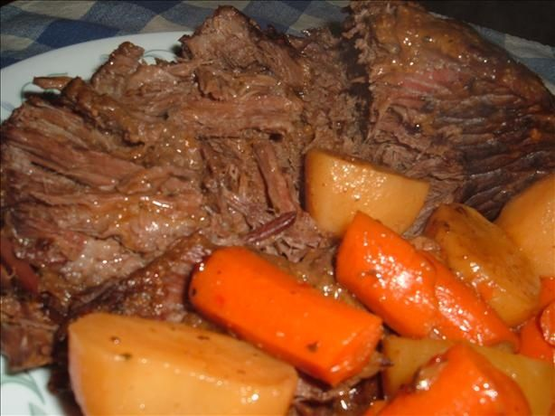 For this weekend, I wanted to try a different pot roast recipe...so, I found this one and decided to try it out.  OMG, it was sooo delicious! :)