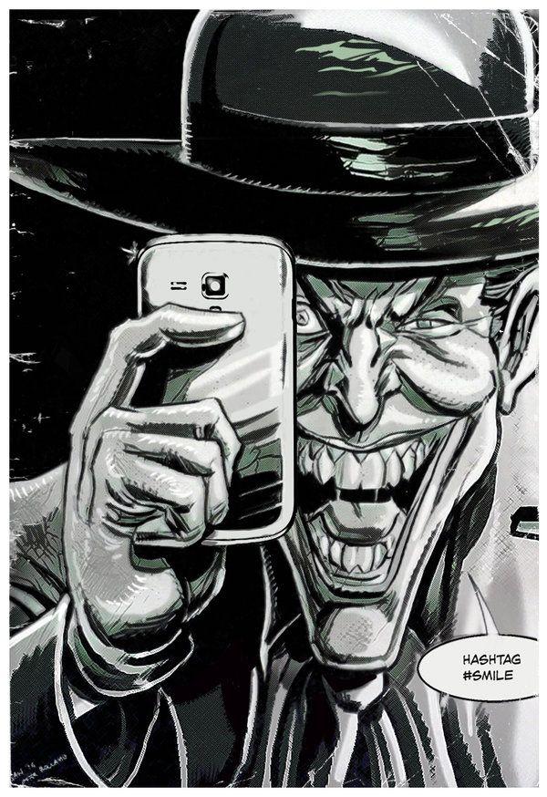 Hashtag Smile by Simon-Williams-Art.deviantart.com on @DeviantArt #Joker #KillingJoke #Batman #DCComics #Homage