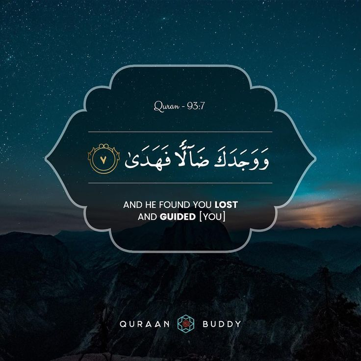 """348 Likes, 4 Comments - Quraan Buddy (@quraanbuddy) on Instagram: """"""""And He found you lost and guided [you]"""" - [Quran 