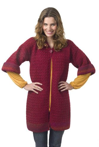 "Free pattern for this ""Autumn Tunic Coat""...looks cozy!"