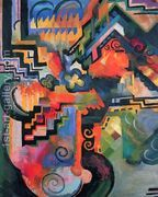 Colored Composition  by August Macke