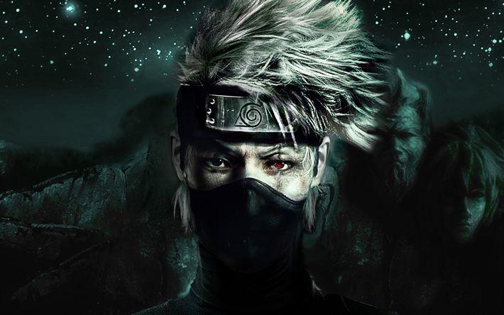 Télécharger fonds d'écran Naruto, Kakashi Hatake, l'Équipe 7, les Japonais d'anime, de manga, de personnages, de Naruto Shippuden
