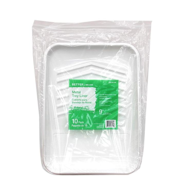 9 in. Plastic Tray Liner (10-Pack)-HD RM 9110 - The Home Depot