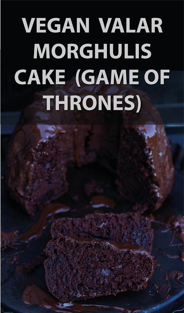 vegan Valar Morghulis cake - death by chocolate (Game of Thrones party) / Veganer Valar Morghulis Kuchen