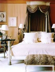 Add a touch of leopard print to your interior design to make a french connection.