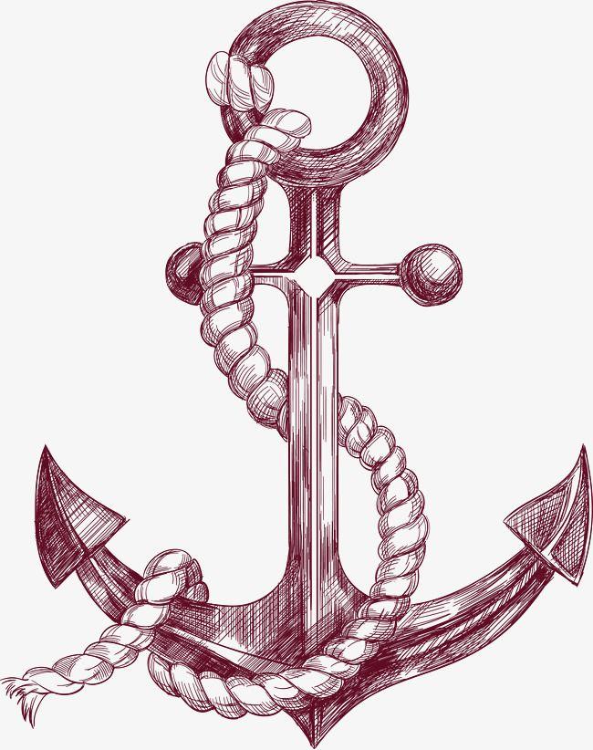 Desenho de âncora, Pintados à Mão, Sketch, AnchorPNG e Vector