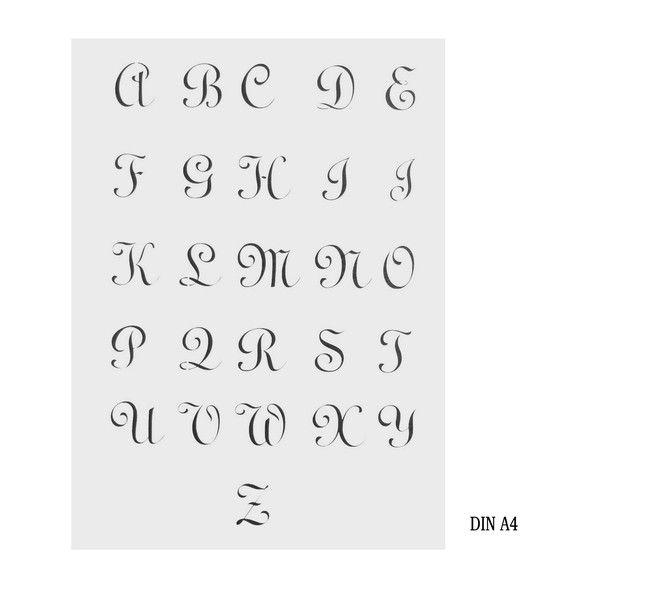 Schablonen - Schablone BUCHSTABEN GROß Alte Schrift 2,5 DIN A4 - ein Designerstück von Aluschablone bei DaWanda