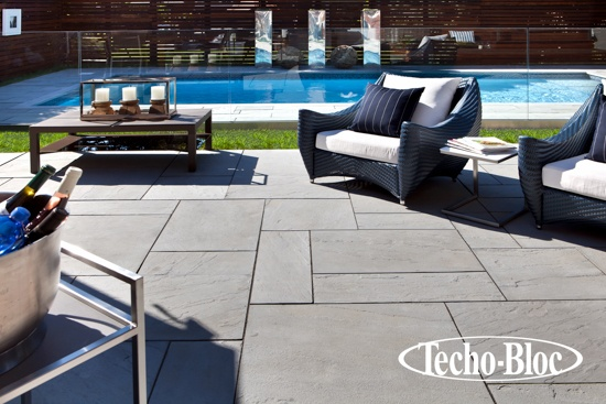 Outdoor Poolside Aberdeen Slabs By Techo Bloc A Combination Of All Sizes