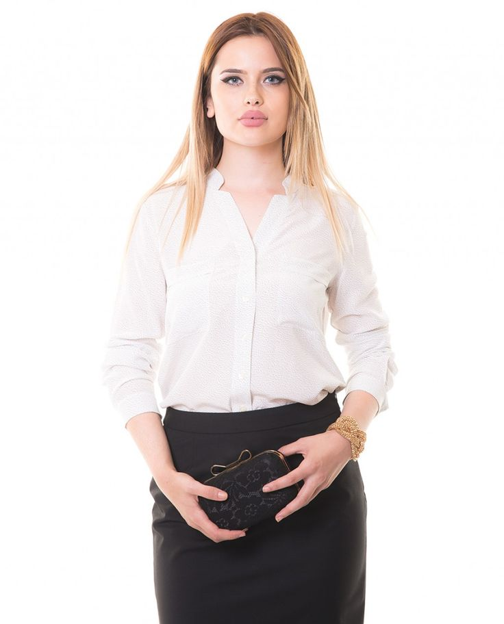 Karaca Bayan Klasik Gömlek - Ekru #womensfashion  #shirt #gomlek #karaca #ciftgeyikkaraca www.karaca.com.tr