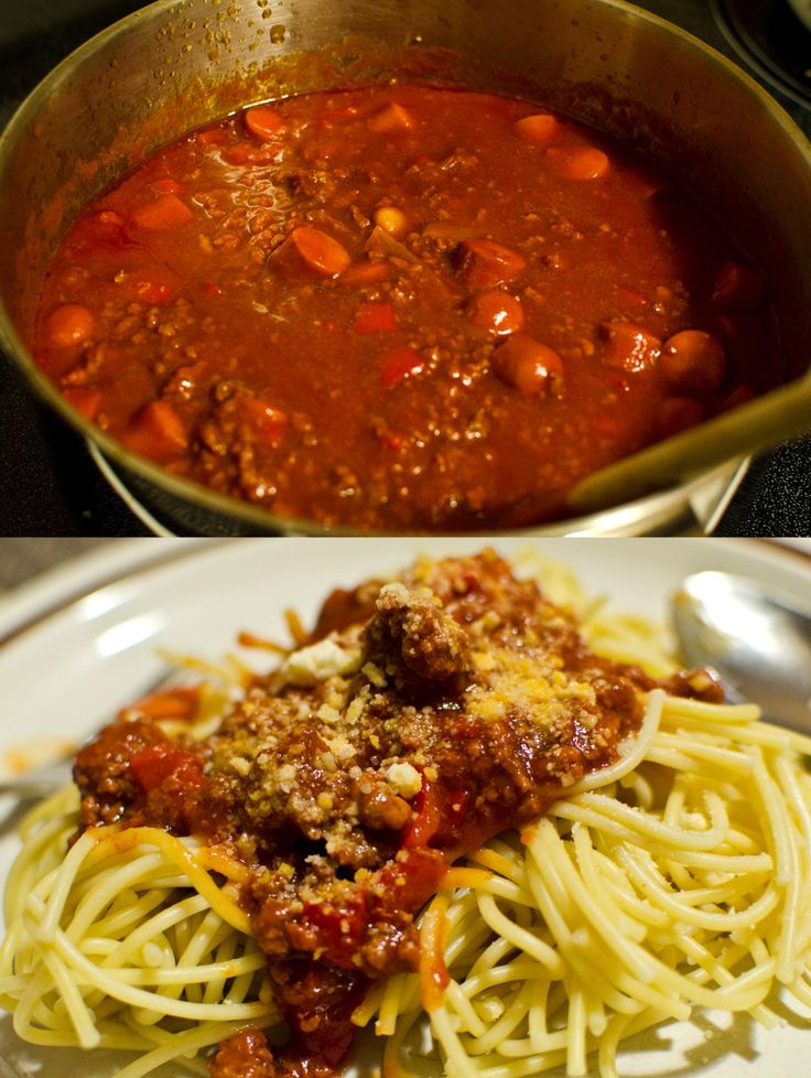 The Filipino spaghetti recipe from my family that I tried to recreate here in Saskatoon last September 7.