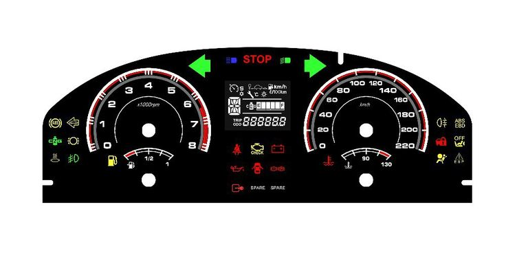 Digital Dashboard for Race Cars | ... Dashboard Meter Digital Dashboard Plastic Speedometer For Cars KF-001