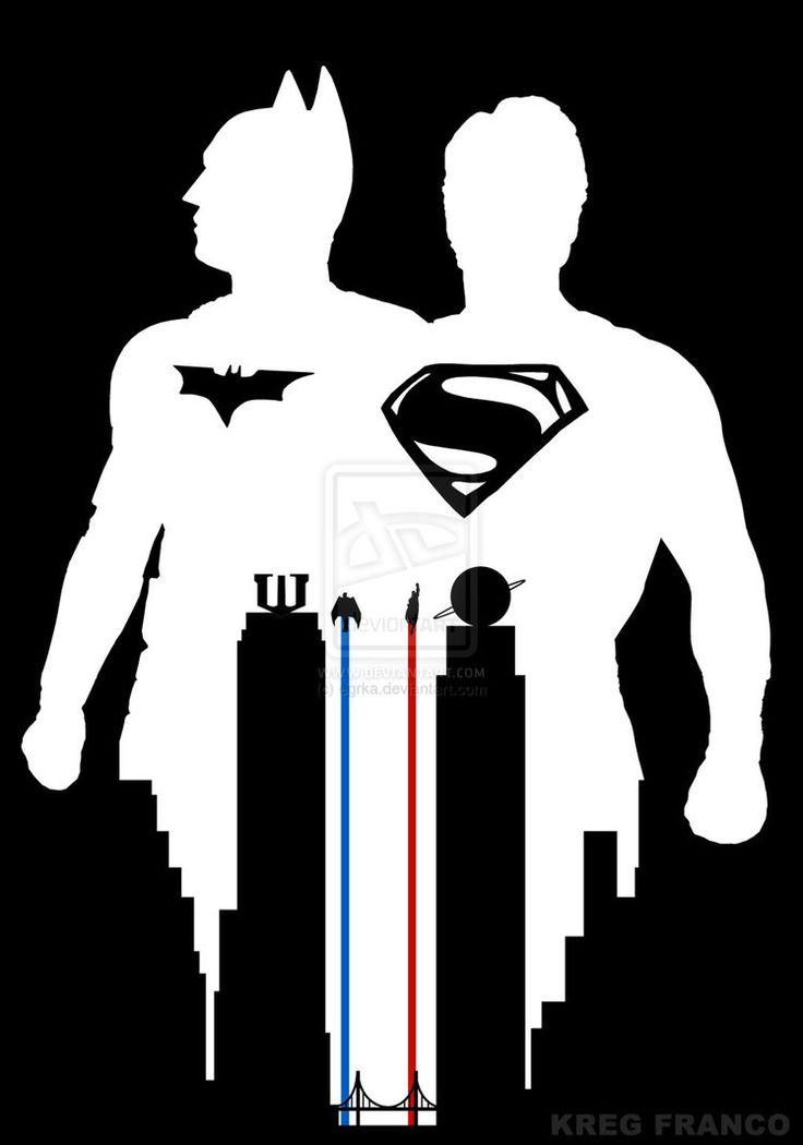 Superman vs Batman Fan Poster or World's Finest by egrka