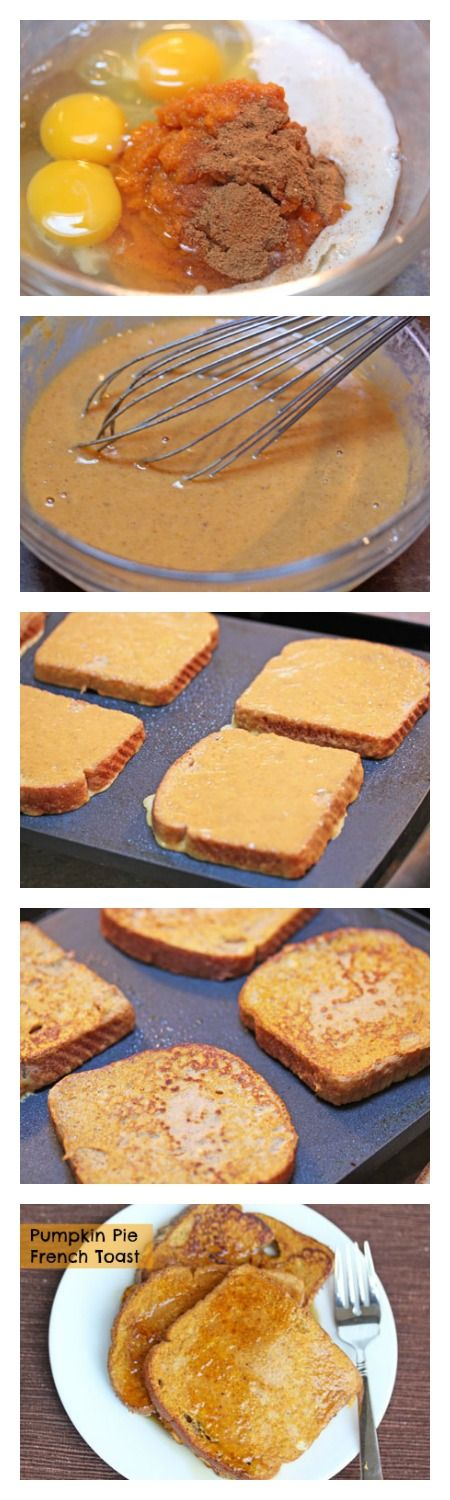 Pumpkin Pie French Toast ~ deliciously amazing and freezer friendly! | 5DollarDinners.com
