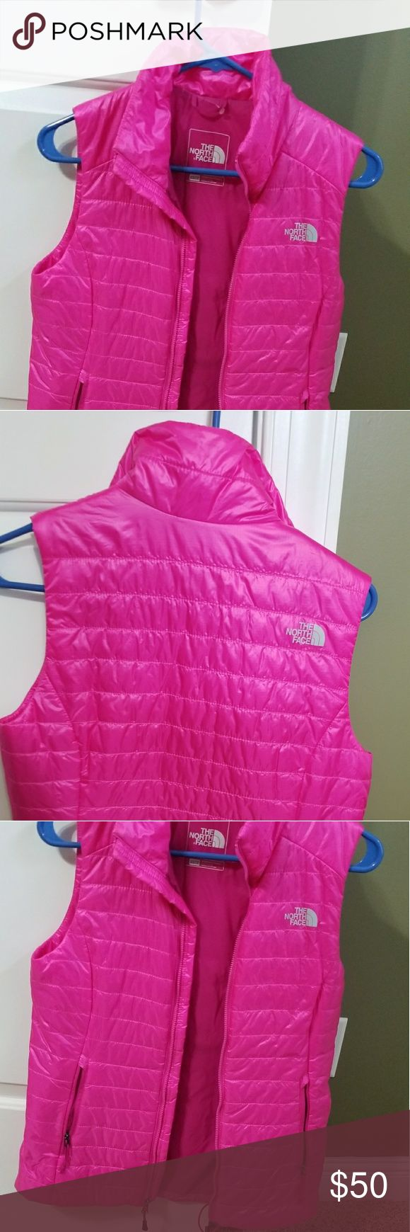 North Face Womens lightweight Vest PINK New without tags (slightly darker pink than pics show) North Face Jackets & Coats Vests