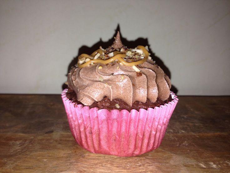 Cupcake de Nutella y avellanas