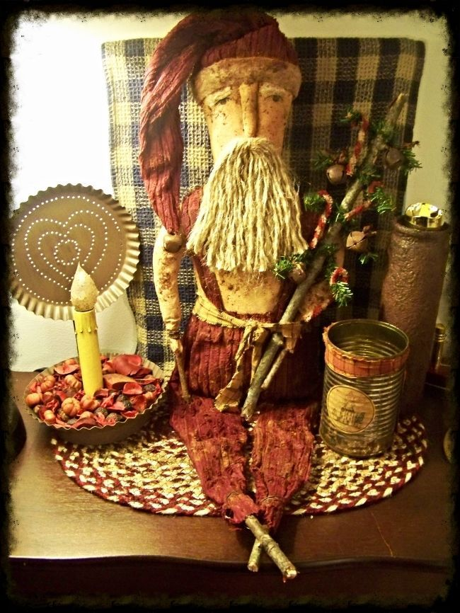 149 best santas coming images on pinterest primitives primitive primitive folk art grungy santa doll christmas tree rusty bells and candy canes holidays country rustic publicscrutiny Choice Image