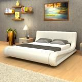 PU Leather Bed King -  White