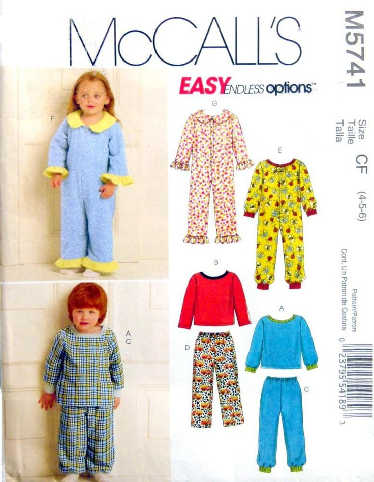 McCall's M5741 UNCUT Toddlers' and Children's Tops, Pants and Jumpsuit Size 4, 5, 6 by LaraineRoseHandiWorx on Etsy