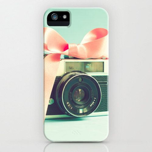 iPhone 5 Case iPod Case Samsung Galaxy s4 iPod Touch iPhone 5 Iphone 4 Girly geek mint pastel soft hipster camera pink via Etsy
