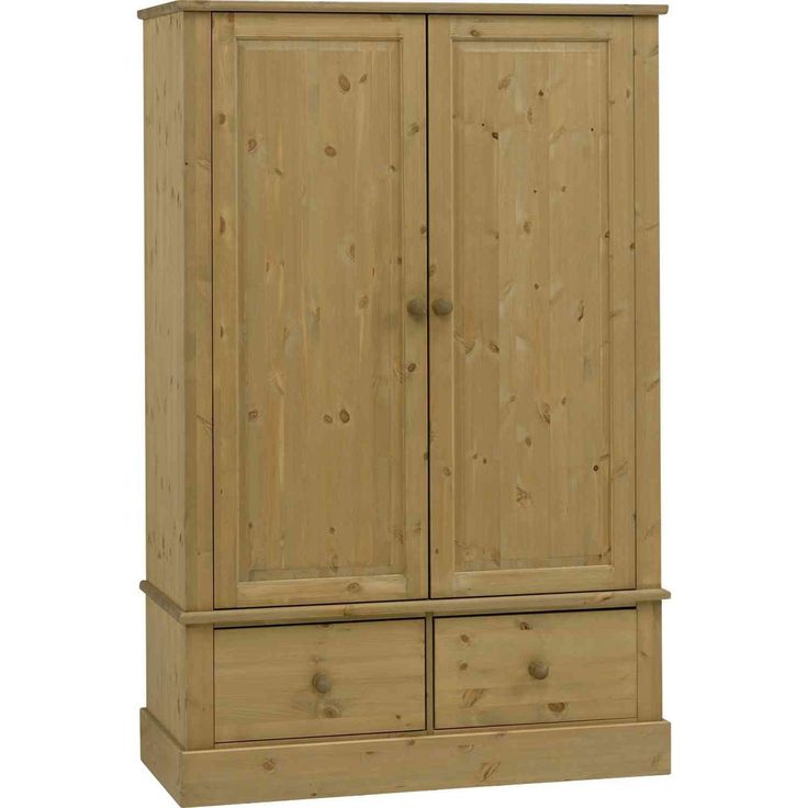 Steens Balmoral Pine 2 Door 2 Drawer Wide Wardrobe