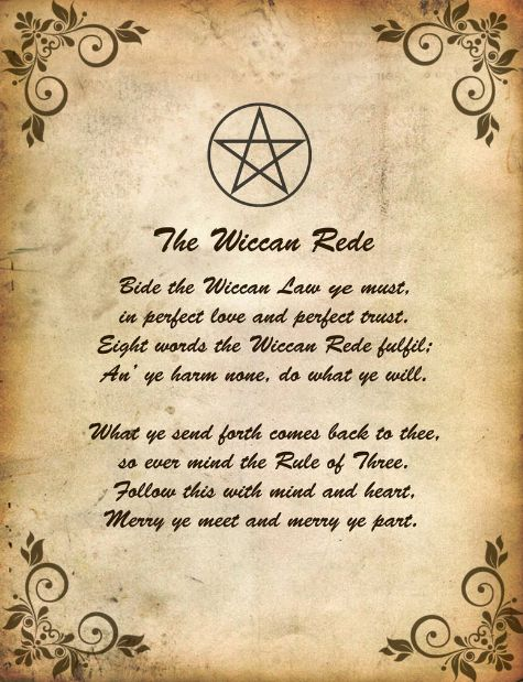Book of Shadows:  #BOS The Wiccan Rede page (also known as the Rede and the Short Rede).